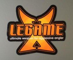 画像1: X-LEGAME フルカラーステッカー(大)ブラック